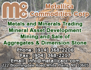metallica commodities corp ad